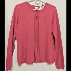New Old Navy button up cardigan dusty rose sweater